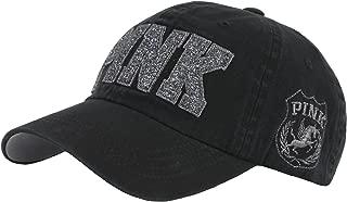 B53 New Pink Emblem Women Sexy Twinkle Club Lady Ball Cap Baseball Hat Truckers
