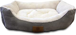 American Kennel Club Burlap Cuddler Pet Bed