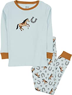 Kids Pajamas Boys Girls 2 Piece pjs Set Animal Prints 100% Cotton (Size 12 Months-14 Years)