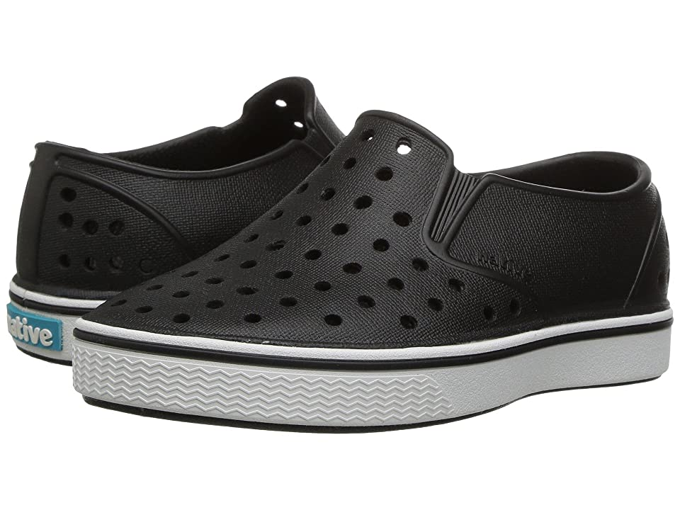 Native Kids Shoes Miles Slip-On (Toddler/Little Kid) (Jiffy Black/Shell White) Kids Shoes