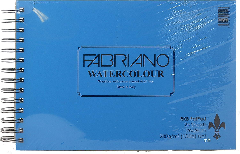 RKB Fat Pad Pad Pad Fabriano Watercolour 19 x 28cm 25 sheets 280gsm Not B00U6CE95O | Bekannt für seine hervorragende Qualität  77ba2c