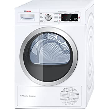 Bosch WTW875W0 Serie 8 Wärmepumpen-Trockner / A+++ / 176 kWh/Jahr / 8 kg / weiß mit Glastür / AutoDry / SelfCleaning Condenser / SensitiveDrying System