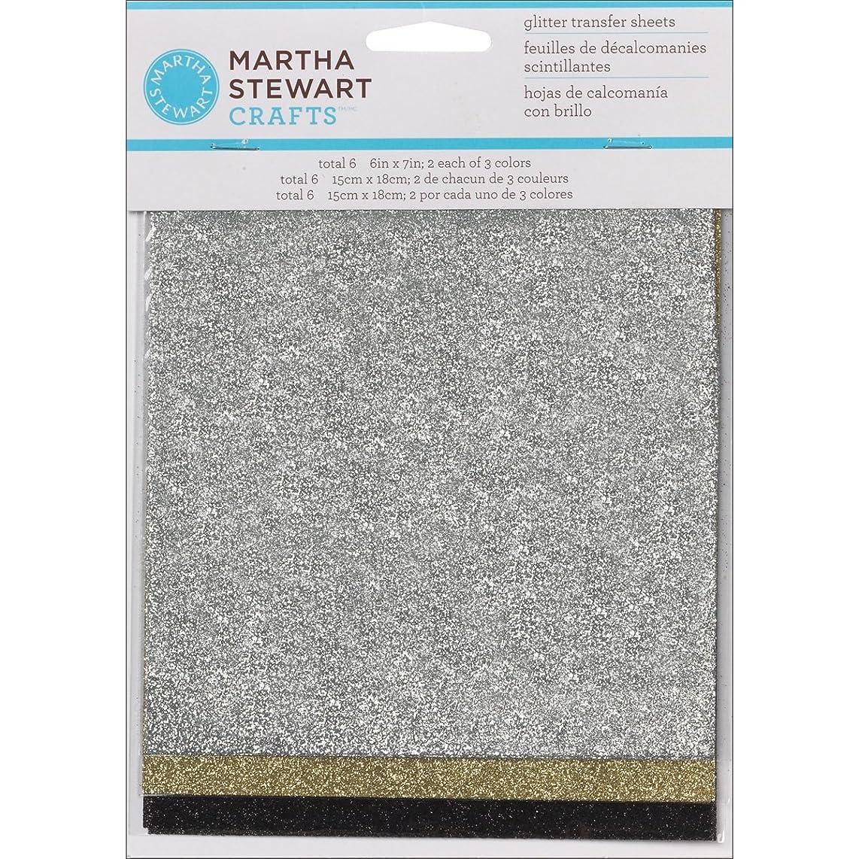 Martha Stewart Crafts Glitter Sheets (6 by 7-Inch), 32211 Mineral-Silver, Gold & Black