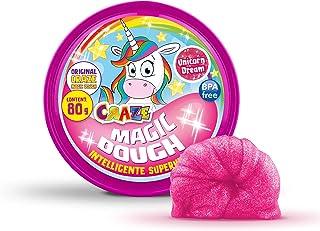 Craze 58917 Magic Dough Plastelina Dla Dzieci, 80g, Różowa