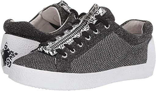 Knit Black/Silver/Pony Animal Print Black/White