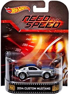 Hot Wheels 2014 Custom Mustang Need for Speed 2014 Retro Series 1:64 Scale Collectible Die Cast Metal Toy Car Model