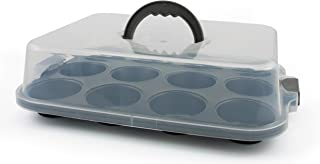 Oneida 12 Cup Non-Stick Covered Muffin Pan,metallic