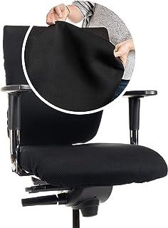 CLEANCHAIR Funda de silla de oficina premium para respaldo – GRANDE: Funda de silla de oficina con un respaldo de aprox. 40-65 cm de ancho y 50-70 cm de altura