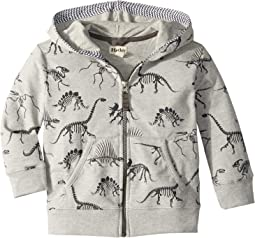 Skeletal Dinos Full Zip Hoodie (Toddler/Little Kids/Big Kids)