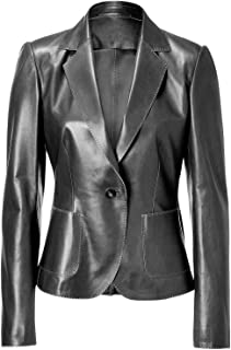 VearFit One-Button Classic Hand Sweing Real Leather Black, Brown and Red Jacket Men