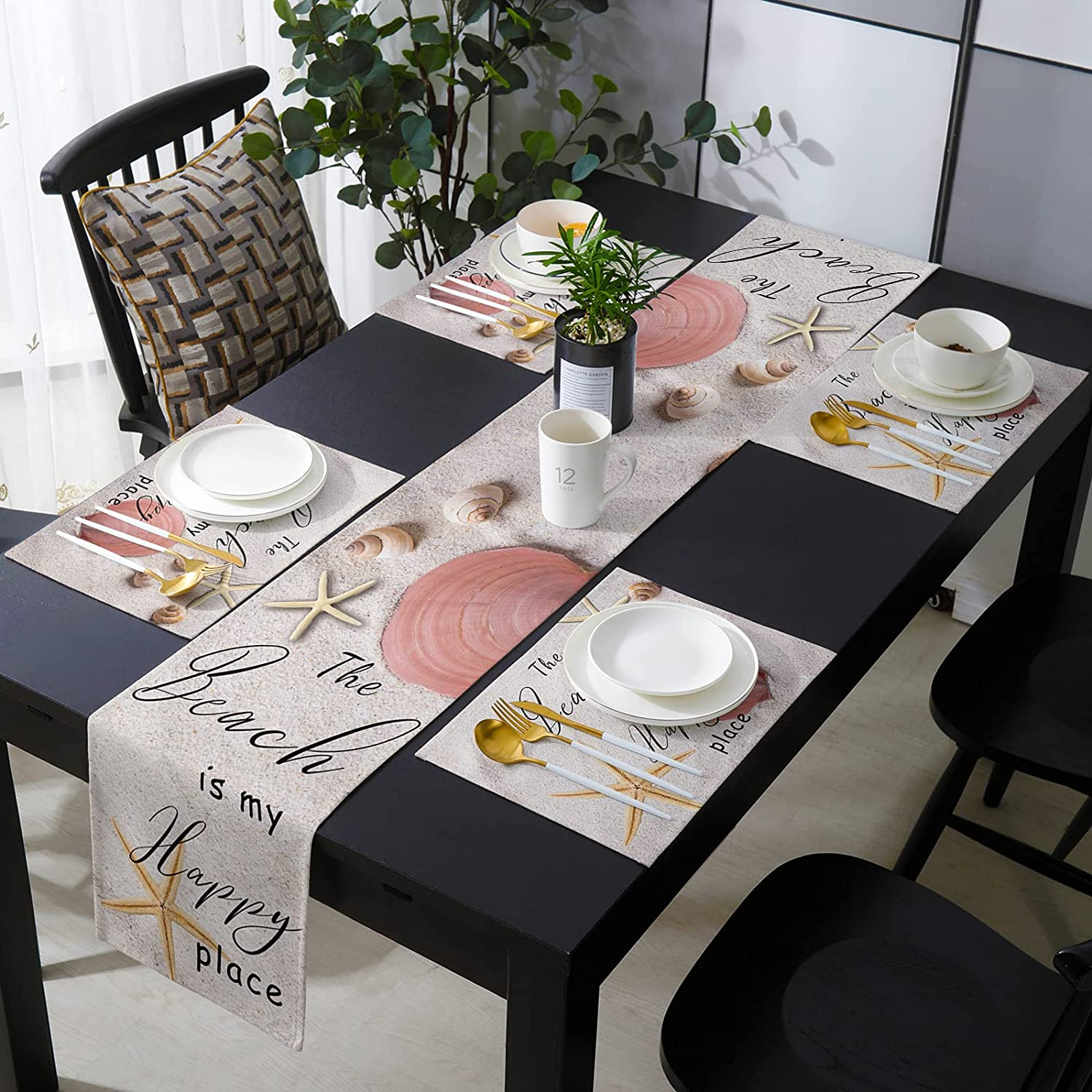PIEPLE Popular brand Table Runner Sets with - 6 35% OFF Mats Placemats Matc