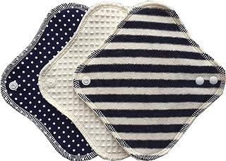 (すぃーと?こっとん) sweet cotton 布ナプキン ネルライナー3枚セット 綿100% パンティライナー(ディープマリンセット) …