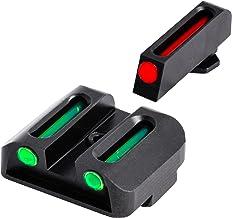 TRUGLO Fiber-Optic Front and Rear Handgun Sights for Glock Pistols