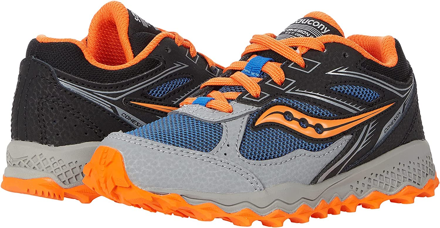New life Wholesale Saucony Cohesion TR14 LACE to Toe Orang Black Blue Shoe Running