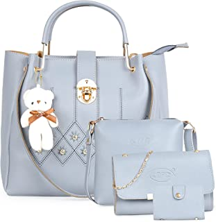 JFC Women's Canvas Handbag and Shoulder Bag with Sling Bag Combo (Multicolour)
