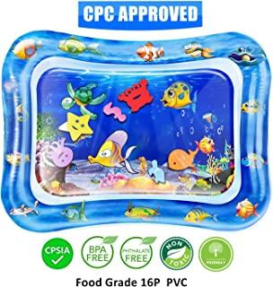 QPAU Tummy Time Baby Water Mat, Baby Toys for 3 6 9 Months, The Perfect Tummy Time Toy for Infant Early Development Activity Centers Your Baby's Stimulation Growth
