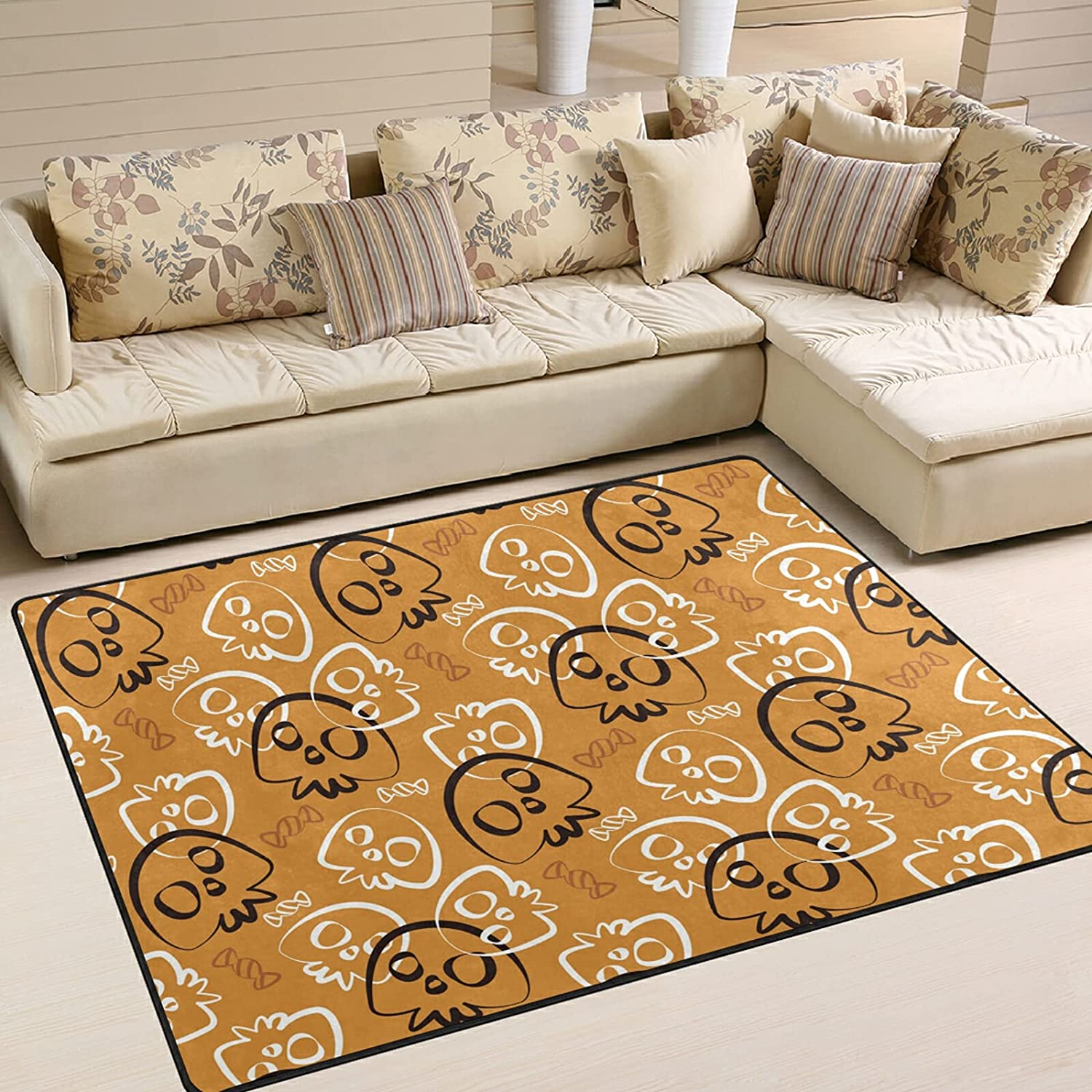 Modern Area Challenge the lowest price of Japan ☆ Rugs 5x7 Washable - S Muertos Halloween Day Dia Now on sale Dead