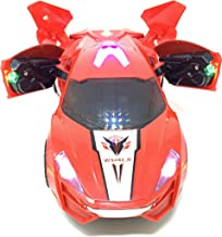 INCHOI Electric Automatic Deformation Lifting 360 Degree Rotating Speed car Light Music Universal Wheel (Red)