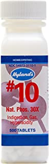 Natural Relief of Joint Pain, Gas, and Indigestion, Hyland's #10 Cell Salt Natrum Phosphoricum 30X Tablets, 500 Count