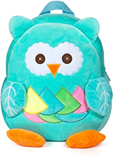 Mochila Infantil Guarderia Bolso del Cabrito Mochila para Niña y Niño 1-3 años (Búho Azul)