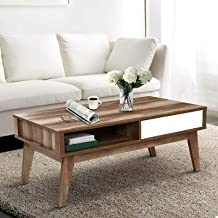 Artiss Wooden Coffee Table - 95(L) x 55(W) x 45(H) cm