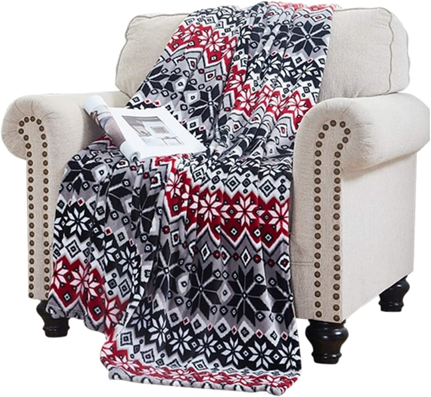 Elle Home Plush Oversized Throw Blanket - Silky Soft Flannel Fleece, Soft and Cozy, for Bed and Couch - Oversized Throw 60