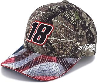 Checkered Flag Kyle Busch 2019 Patriotic TrueTimber Camo  18 NASCAR Hat 87978cdc23a