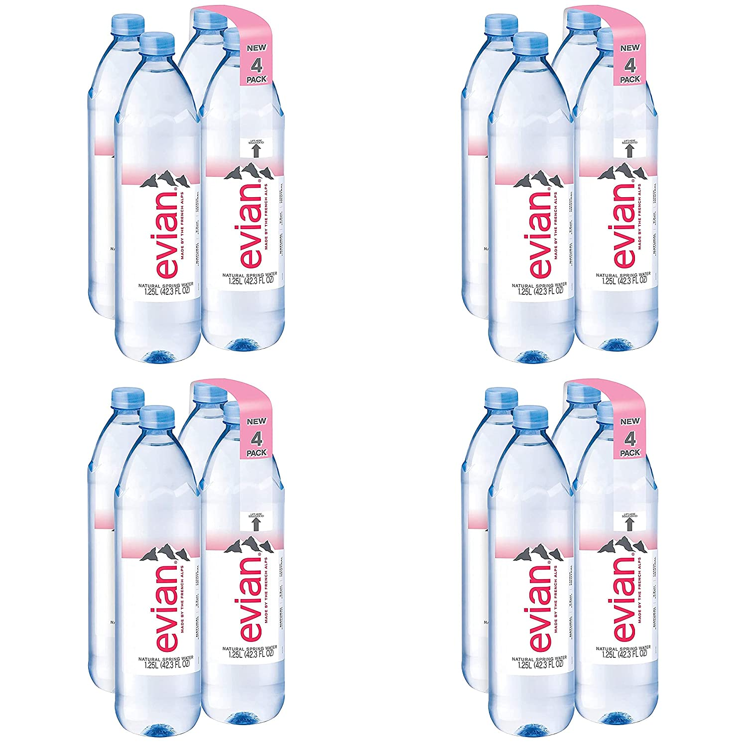 evian Natural Spring Water 1.25 Liter New popularity 42.27 4 Fl Oz N of Pack service