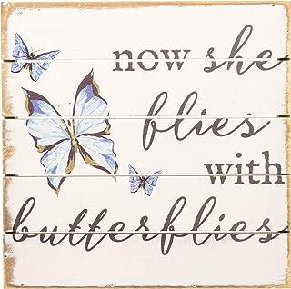 Sincere Surroundings PET10388 Butterflies 8 x 8, White