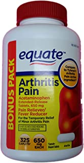 Equate Arthritis Pain Bonus Pack, Acetaminophen Extended-Release Tablets, 650 Milligram, 325 Count Bottle