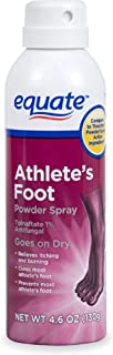 Athlete's Foot Powder Spray 4.6oz By Equate, Compare to Tinactin