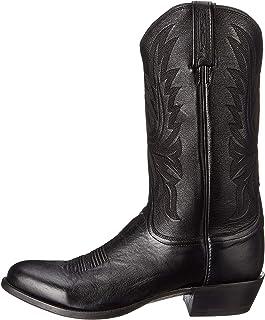حذاء رجالي ماركة Lucchese Bootmaker Carso-Blk Lonestar Cowboy