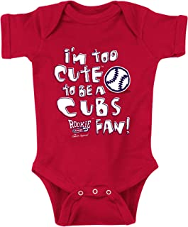 Rookie Wear by Smack Apparel St Louis Baseball Fans. I'm Too Cute Onesie (NB-18M) or Toddler Tee (2T-4T)