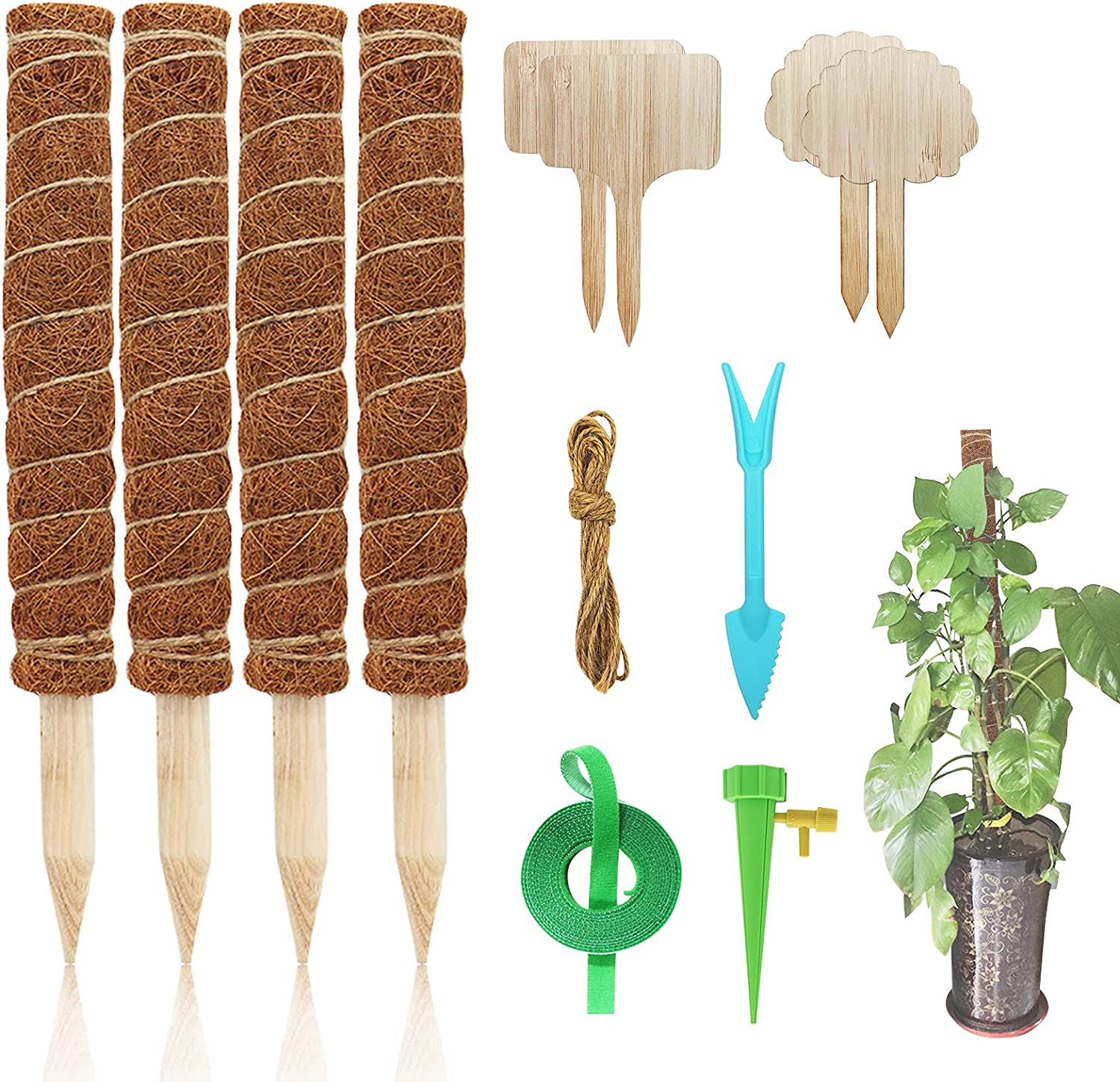 N\A Moss Pole 4 PCS Coir Totem 5   very popular 16 Inches