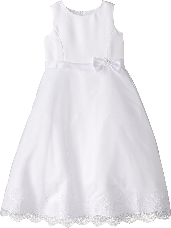 Us Angels Big Girls' A-Line Dress with Lace Trim