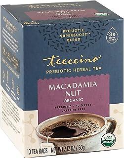 Teeccino Prebiotic SuperBoost Herbal Tea – Macadamia Nut – Support Your Probiotics with Vegan GOS & Organic XOS For Good G...