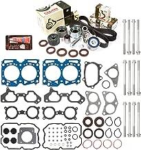 Evergreen HSHBTBK9014 Head Gasket Set Head Bolts Timing Belt Kit Fits 06-12 Subaru TURBO 2.5 EJ255 EJ257