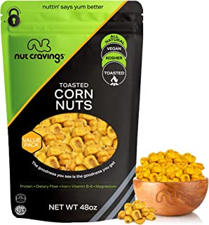 Freshly Roasted & Salted Corn Nuts (48oz - 3 Pound) Packed Fresh in Resealble Bag - Trail Mix Snack - Healthy Protien Food...