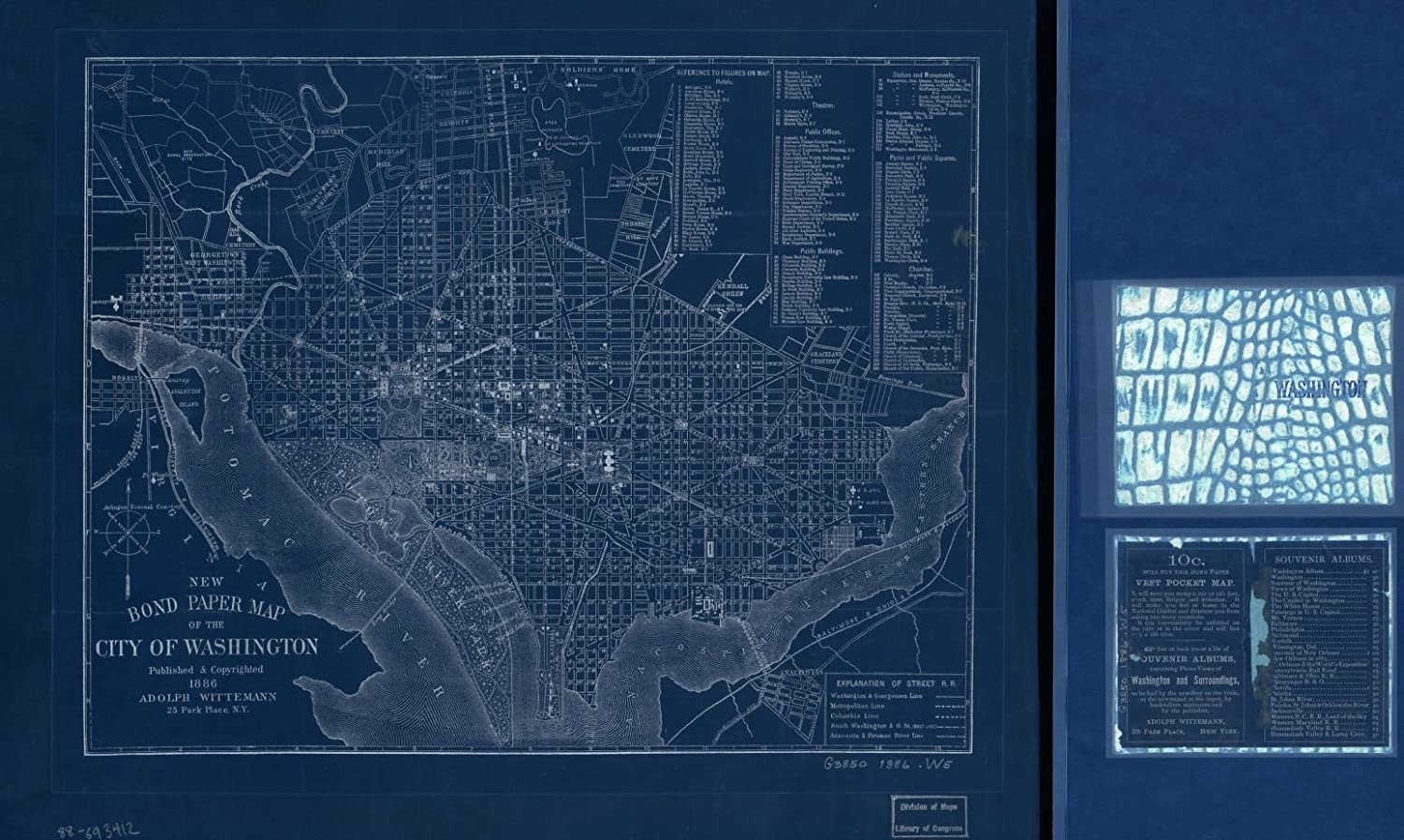 Vintography 18 x 24 Blueprint Las Vegas Mall Large-scale sale Style 1886New Reproduced B Map Old