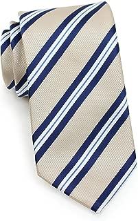 Bows-N-Ties Men's Necktie Preppy Repp Striped Microfiber Satin Tie 3.1 Inches