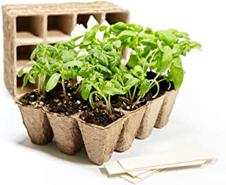 U+ME Organic Peat Pots Seed Starter Tray | 120 Seed Planting Pots | Biodegradable Seed Starter Plant Trays for Vegetable Seeds | Herb Garden | Permaculture | Homesteading | Gardening Gifts