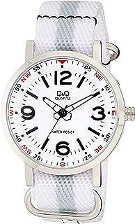 Q&Q Men's White Dial Nylon Band Watch - Q892J314Y