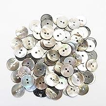 茶蝶貝ボタン 15mm 2穴 ジャケット袖口 カーディガン 最適 100個入り CHACHOSARA-15-BR-015