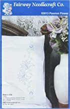 Fairway Stamped Perle Edge Pillowcase, 30 by 20-Inch, Lilies on Vine, 2-Pack