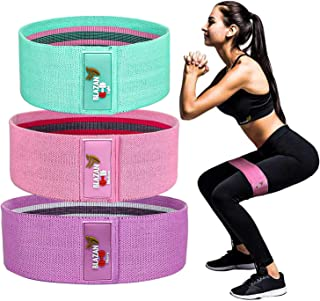 Blazan Fabric Resistance Bands, Booty Bands for Legs & Butt, Fitness Loop Non-Slip Design, Workout Exercise Bands, Home Gy...