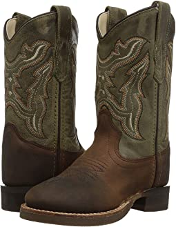 Old West Kids Boots Broad Round Toe (Toddler/Little Kid)