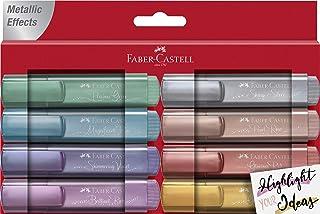 Faber-Castell 154689 TL 46 Lot de 8 surligneurs métalliques