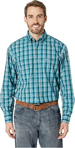 George Strait Two-Pocket Button Plaid