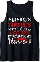 Slashers vampires serial killers asylums haunted houses  Tank Top