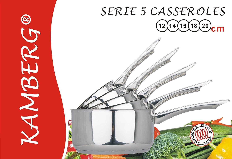 Le juge HPC1 Essentials gamme 5 Pièce Casserole Ensemble noir Acier inoxydable